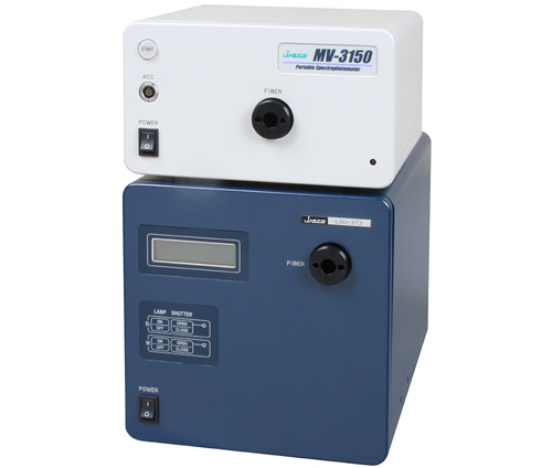 Portable spectrophotometer and light source unit